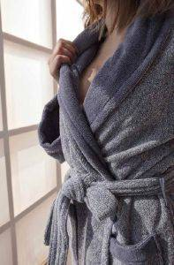 ΜΠΟΥΡΝΟΥΖΙ PALAMAIKI HOME BATHROBE COLLECTION BELAGIO ΓΚΡΙ