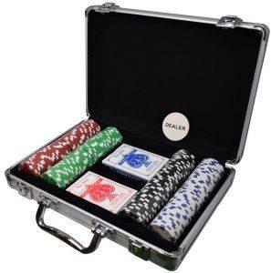 ΒΑΛΙΤΣΑ ΑΛΟΥΜΙΝΙΟΥ ΜΕ 200 ΜΑΡΚΕΣ παιχνίδια casino accessories μαρκεσ