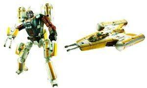 STAR WARS TRANSFORMERS CROSSOVERS ANAKIN SKYWALKER TO Y-WING BOMBER