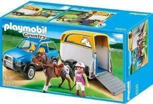 PLAYMOBIL ΟΧΗΜΑ ΜΕ ΤΡΕΪΛΕΡ ΜΕΤΑΦΟΡΑΣ ΑΛΟΓΩΝ 5223 παιχνίδια playmobil country