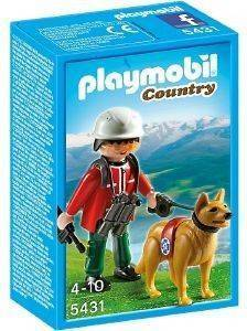 PLAYMOBIL ΔΙΑΣΩΣΤΗΣ ΜΕ ΣΚΥΛΟ ΑΝΙΧΝΕΥΤΗ 5431 παιχνίδια playmobil country