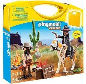 PLAYMOBIL ΒΑΛΙΤΣΑΚΙ ΑΓΡΙΑ ΔΥΣΗ 5608 παιχνίδια playmobil αγρια δυση