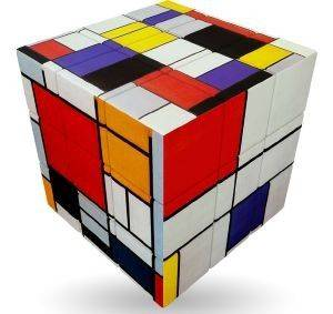 MONDRIAN  V-CUBE ART EMOTIONS  FLAT 3Χ3