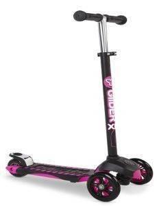 ΠΑΤΙΝΙ YVOLUTION YGLIDER XL DELUXE ΜΑΥΡΟ ΡΟΖ παιχνίδια παιδικα οχηματα scooter