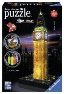 BIG BEN  RAVENSBURGER  NIGHT EDITION   216 ΚΟΜΜΑΤΙΑ