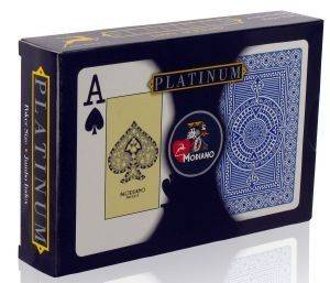 ΤΡAΠΟΥΛΕΣ ΠΛΑΣΤΙΚΕΣ  MODIANO  PLATINUM  ACETATE TEXAS POKER 2JUMBO 2TMX