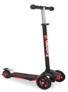 ΠΑΤΙΝΙ YVOLUTION YGLIDER XL DELUXE ΜΑΥΡΟ ΚΟΚΚΙΝΟ παιχνίδια παιδικα οχηματα scooter