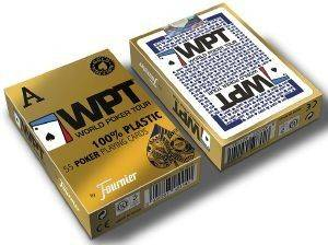 ΤΡΑΠΟΥΛΑ FOURNIER WPT GOLD EDITION 100% PLASTIC 2 JUMBO INDEX ΜΠΛΕ