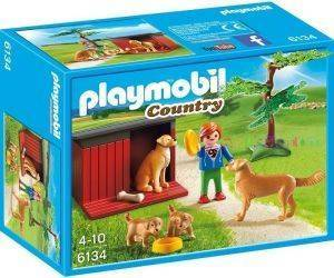 PLAYMOBIL 6134 GOLDEN RETRIEVER ΜΕ ΚΟΥΤΑΒΙΑ παιχνίδια playmobil country