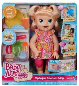 BABY ALIVE ΜΩΡΟYΛΙ ΦΑΓΑΝΟYΛΙ ΞΑΝΘΙA παιχνίδια διαφορεσ κουκλεσ baby alive