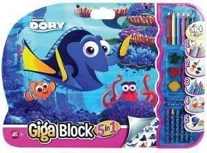 ΣΕΤ ΖΩΓΡΑΦΙΚΗΣ GIGA BLOCK 5 ΣΕ 1 DORY παιχνίδια παιδικα επιτραπεζια ζωγραφικη