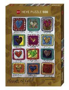 HEARTS OF GOLD YEAR OF LOVE HEYE 500 KOMMATIA παιχνίδια puzzles 500 puzzles 500