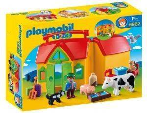 PLAYMOBIL 6962 ΦΑΡΜΑ-ΒΑΛΙΤΣΑΚΙ παιχνίδια playmobil 123 18 μηνων