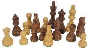ΠΙOΝΙΑ ΓΙΑ ΣΚΑΚΙ ΞΥΛINA ΜΠΕΖ ΚΑΦΕ 95MM παιχνίδια σκακι πιονια