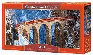 LANDWASSER VIADUCT SWISS ALPS CASTORLAND 600 ΚΟΜΜΑΤΙΑ παιχνίδια puzzles 500 puzzles 600