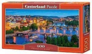PRAGUE AT NIGHT CASTORLAND 600 ΚΟΜΜΑΤΙΑ παιχνίδια puzzles 500 puzzles 600