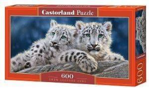 SNOW LEOPARD CUBS CASTORLAND 600 ΚΟΜΜΑΤΙΑ παιχνίδια puzzles 500 puzzles 600