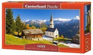 CHURCH MARTERLE CARINTHIA AUSTRIA CASTORLAND 600 ΚΟΜΜΑΤΙΑ παιχνίδια puzzles 500 puzzles 600
