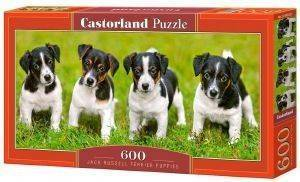JACK RUSSELL TERRIER PUPPIES CASTORLAND 600 ΚΟΜΜΑΤΙΑ παιχνίδια puzzles 500 puzzles 600