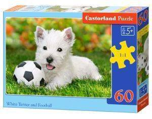 WHITE TERRIER AND FOOTBALL CASTORLAND 60 ΚΟΜΜΑΤΙΑ
