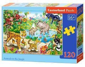 ANIMALS IN THE JUNGLE CASTORLAND 120 ΚΟΜΜΑΤΙΑ παιχνίδια puzzles παιδικα 100 300 κομματια