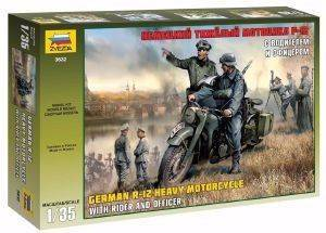 ΦΙΓΟΥΡΕΣ 1/35 ZVEZDA GERMAN SOLO MOTORCYCLE R12 W/CREW WW2 [3632]