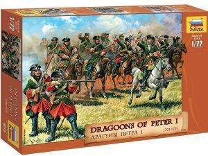 ΦΙΓΟΥΡΕΣ 1/72 ZVEZDA DRAGOONS OF PETER I THE GREAT-17TH/18TH CENTURY  [8072]
