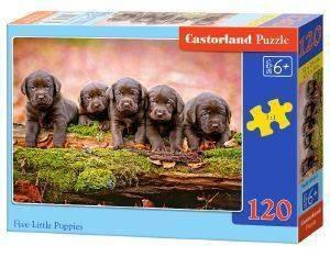 FIVE LITTLE PUPPIES CASTORLAND 120 ΚΟΜΜΑΤΙΑ παιχνίδια puzzles παιδικα 100 300 κομματια