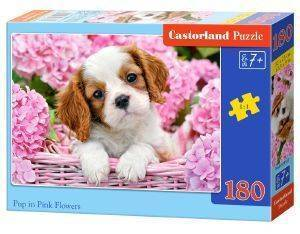 PUP IN PINK FLOWERS CASTORLAND 180 ΚΟΜΜΑΤΙΑ παιχνίδια puzzles παιδικα 100 300 κομματια