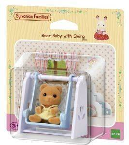 SYLVANIAN FAMILIES BEAR BABY WITH SWING [4559]
