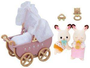 SYLVANIAN FAMILIES ΜΩΡΑΚΙΑ ΔΙΔΥΜΑ CHOCOLATE RABBIT TWINS SET [5018]