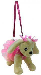 ΤΣΑΝΤΑΚΙ-ΣΚΥΛΑΚΙ JUST TOYS DOGGIE STAR GOLDEN 25CM [DS-03]