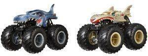 HOT WHEELS MONSTER TRUCKS ΣΕΤ ΤΩΝ 2 MEGA REX VS LEOPARD SHARK [FYJ64]
