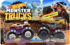 HOT WHEELS MONSTER TRUCKS ΣΕΤ ΤΩΝ 2 ROGER DOODGER VS BONE SHAKER [FYJ64]