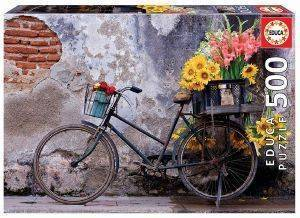BICYCLE WITH FLOWERS EDUCA 500 ΚΟΜΜΑΤΙΑ