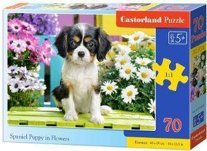 SPANIEL PUPPY IN FLOWERS CASTORLAND 70 ΚΟΜΜΑΤΙΑ