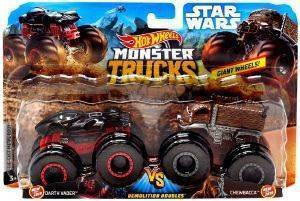 HOT WHEELS MONSTER TRUCKS ΣΕΤ ΤΩΝ 2 DARTH VADER VS CHEWBACCA STAR WARS [FYJ64]