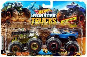 HOT WHEELS MONSTER TRUCKS ΣΕΤ ΤΩΝ 2 BONE SHAKE VS RODGER DODGER [FYJ64]