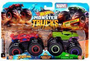 HOT WHEELS MONSTER TRUCKS ΣΕΤ ΤΩΝ 2 SPIDERMAN VS HULK [FYJ64]