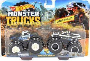 HOT WHEELS MONSTER TRUCKS ΣΕΤ ΤΩΝ 2 POLICE VS HOOLIGAN [FYJ64]