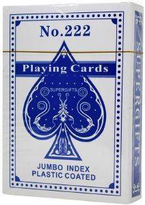 ΤΡAΠΟΥΛΑ SUPERGIFTS NO. 222 JUMBO INDEX PLASTIC COATED ΜΠΛΕ
