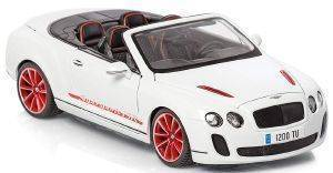 BENTLEY PLUS BBURAGO CONTINENTAL SUPERSPORTS CONVERTIBLE ΜΕΤΑΛΛΙΚΟ ΑΝΤΙΓΡΑΦΟ 1:18 ΛΕΥΚΟ