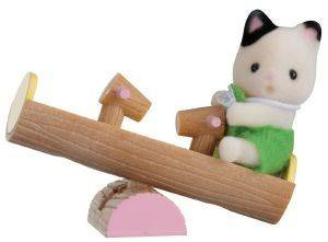 SYLVANIAN FAMILIES BABY CARRY CASE (CAT ON SEE-SAW) [5205]