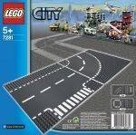 LEGO - LEGO T-JUNCTION & CURVED ROAD PLATES 7281