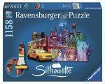 PUZZLES-SILHOUETTE - ΝΕΑ ΥΟΡΚΗ RAVENSBURGER SILHOUETTE 1158 ΚΟΜΜΑΤΙΑ