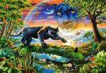 PUZZLES 1500 - PANTHER TWILIGHT  CASTORLAND 1500 ΚΟΜΜΑΤΙΑ