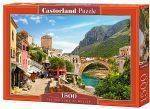 PUZZLES 1500 - THE OLD TOWN OF MOSTAR  CASTORLAND 1500 ΚΟΜΜΑΤΙΑ