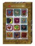 PUZZLES 500 - HEARTS OF GOLD YEAR OF LOVE HEYE 500 KOMMATIA