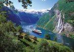 PUZZLES 1000 - THE SEVEN SISTERS WATERFALL, GEIRANGERFJORD, NORWAY TREFL 1000 ΚΟΜΜΑΤΙΑ