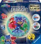 PUZZLE BALL - ΜΠΑΛΑΛAΜΠΑ ΤΡEΛΑ PJ MASKS  RAVENSBURGER 72 ΚΟΜΜΑΤΙΑ